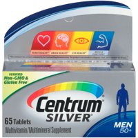 Centrum Silver Men 50+ Multivitamin Tablets, 65 Ct