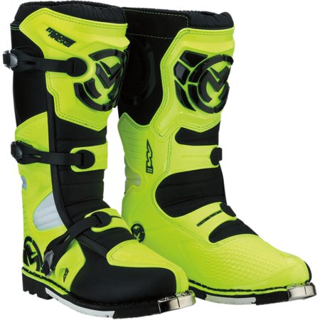 Moose Racing M1.3 Boots with MX Sole Hi-Viz (Yellow, 9)