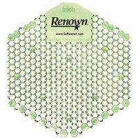 Renown Wave 3D Urinal Screen, Cucumber Melon, 10 Per Pack