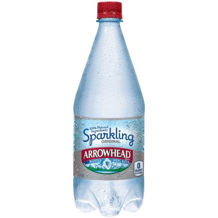 Arrowhead Sparkling Natural Spring Water, Original, 33.8 Fl Oz, 12 Count by Nestle Waters North America