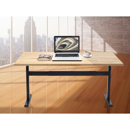 Mount-It! Stand Up Desk With Manual Crank, Frame Only, Height Adjustable Sit-Stand, Standing Ergonomic, Black