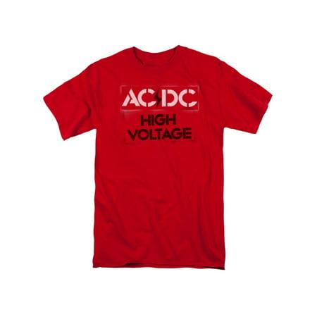 High Voltage Short (AC/DC Hard Rock Band Music High Voltage Album Cover Stencil Adult T-Shirt)