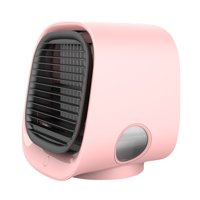 Mini Desktop Air Conditioner Anionic Air Conditioner Fan Air Purification Humidification Mini Cooling Fan USB Multifunctional Cooler Pink M201