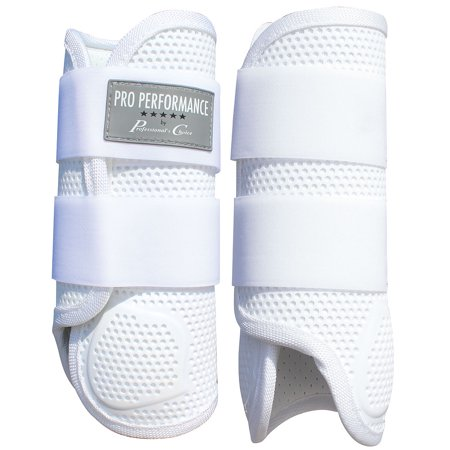 PROFESSIONAL CHOICE PRO PERFORMANCE ELITE HORSE FRONT LEG XC BOOTS PAIR WHITE - Prop Legs