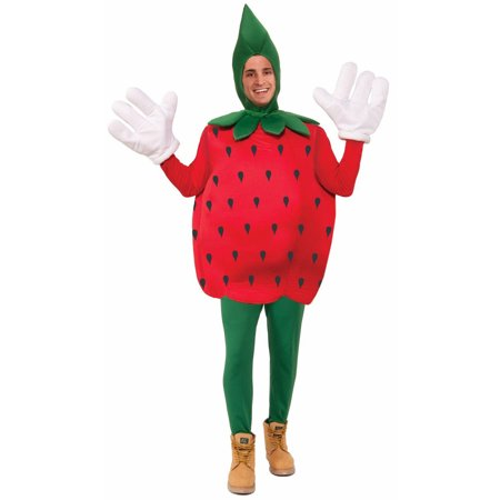 Strawberry Adult Halloween Costume, 1 Size