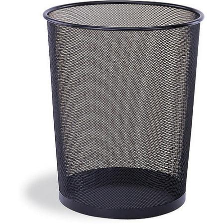 Mesh Round Wastebasket - Mesh Round Wastebasket, Black