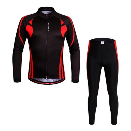WOSAWE® Unisex Breathable Quick-dry Cycling Full-zip Long Sleeve Jersey Pants Bicycle Clothing Sets Suits Bike Racing Mountain Biking Outdoor