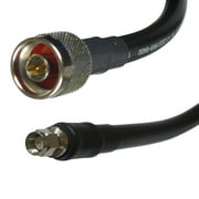 Times Microwave LMR-400 Coaxial Antenna Cable Line with N Male & SMA Male Connectors, 15-Feet