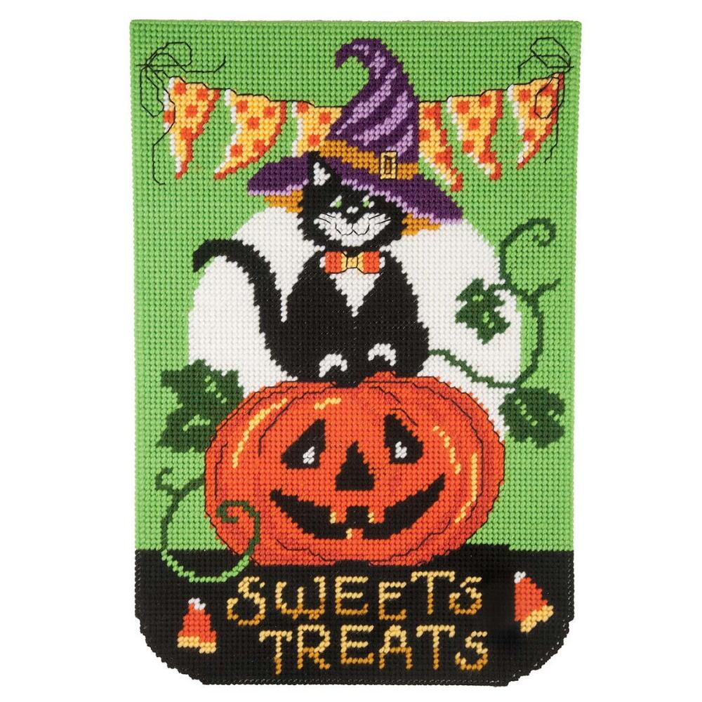 Craftways October Banner-Sweet Treats Plastic Canvas Kit
