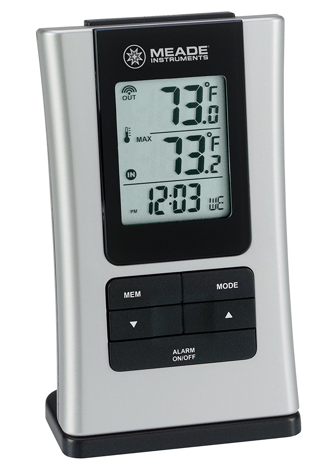 Outdoor Digital Thermometer, Meade Patio Wall Mounted Outdoor Thermometer Digital by Meade