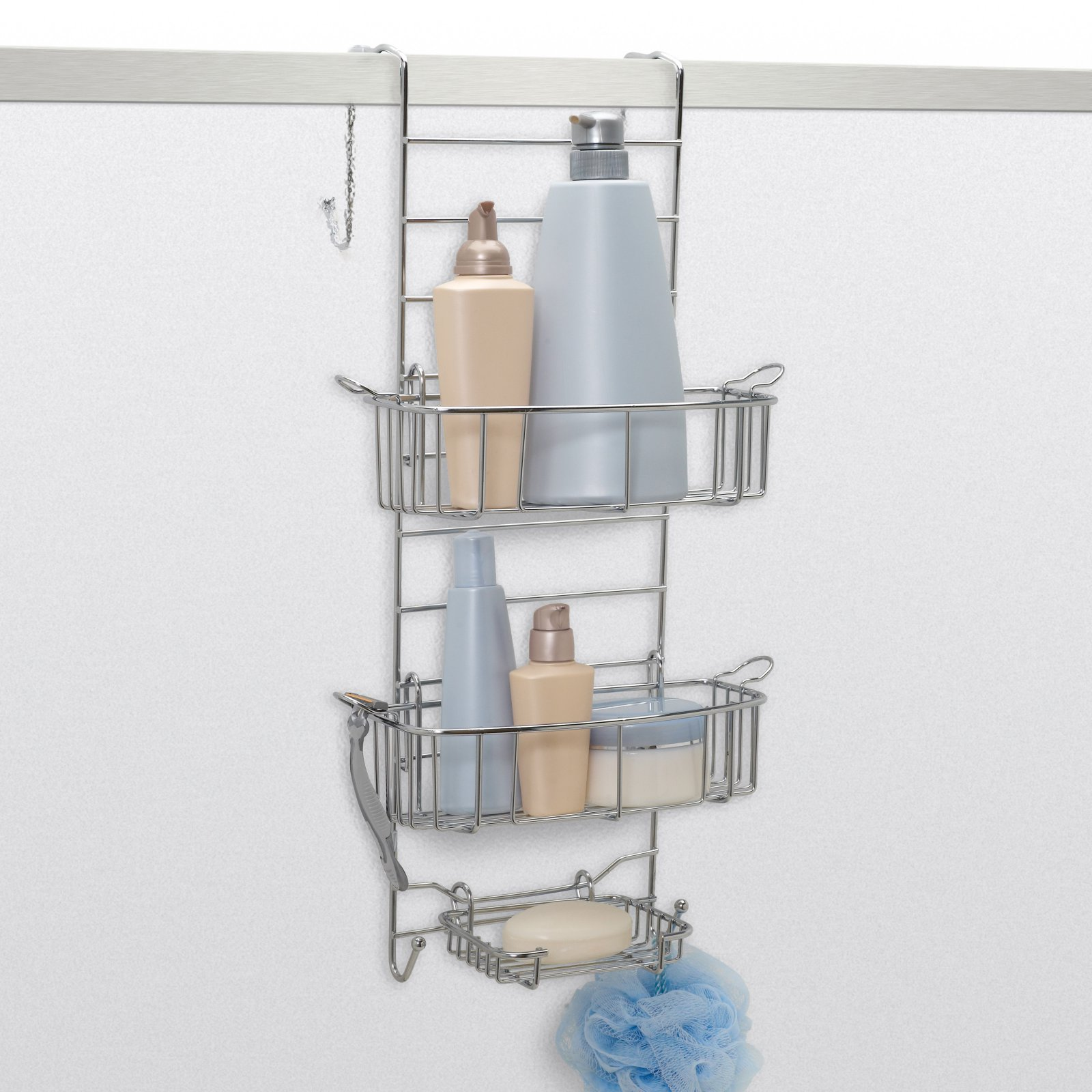 Zenith Products Over the Shower Door Caddy, Stainless Steel
