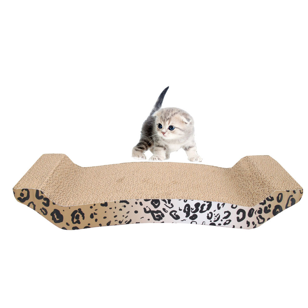 Ktaxon Panther Print Cat Toy Scratching Corrugated Board Scratcher Bed Pad with Catnip by
