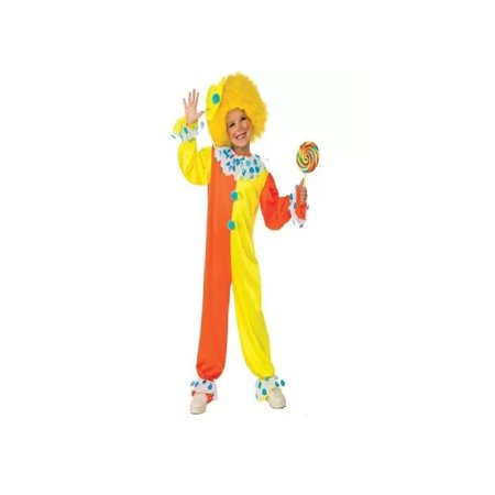 Rubie's Neon Clown Child Halloween Costume Med 8-10 883028777860, Two piece Halloween Clown Costume -- jumpsuit and wig By Seasons Inc](Clown Jumpsuit)