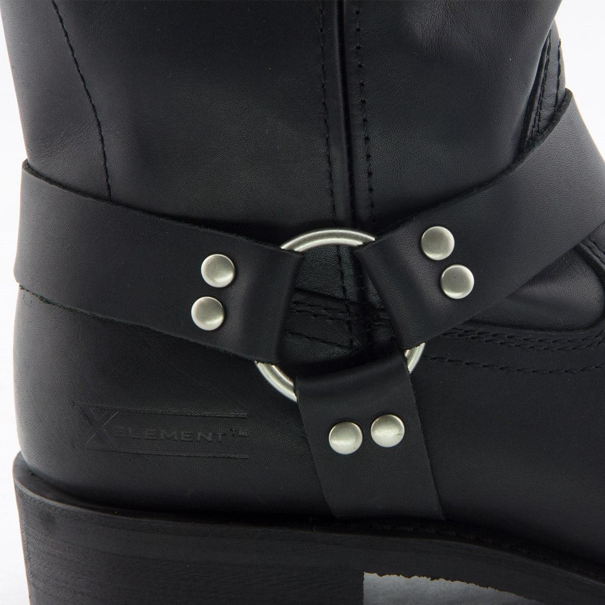 cda22a3e60b Xelement 1442 Classic Mens Black Harness Motorcycle Biker Boots -  Walmart.com