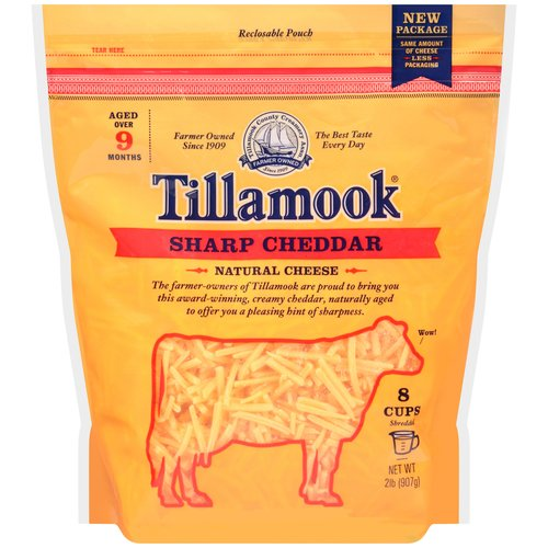 Tillamook Shredded Sharp Cheddar Cheese, 2 lb