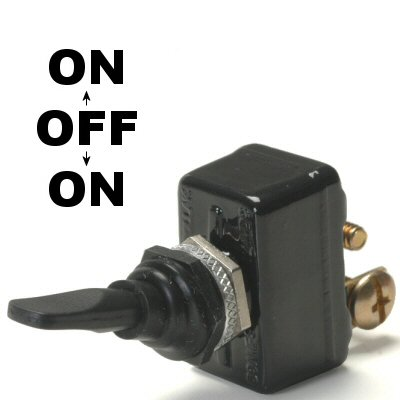 K-Four Sand Sealed Super Heavy Duty 50 Amp On / Off / On Toggle Switch With Screw Terminals (Sandy Off Of Grease)