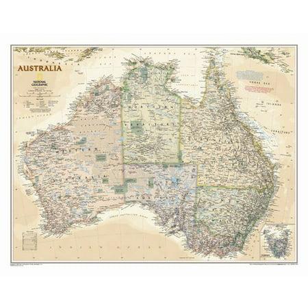 National Geographic Maps Australia Executive Wall