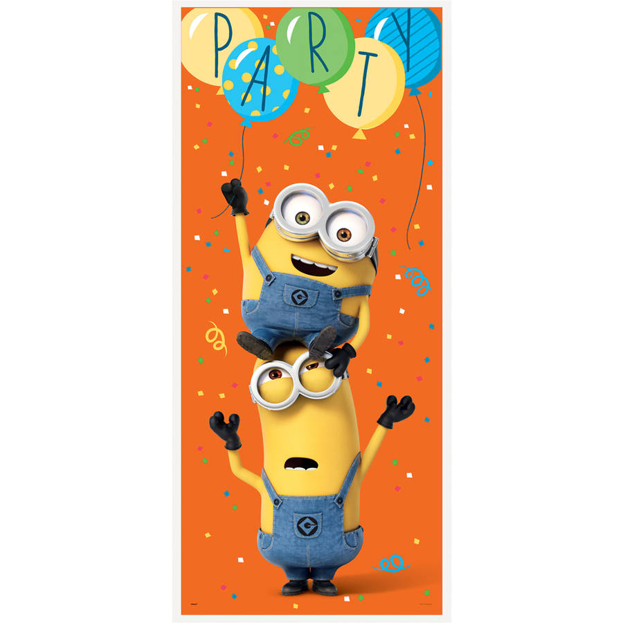 Plastic Despicable Me Minions Door Poster Party Decoration, 5 x 2.5 ft, 1ct