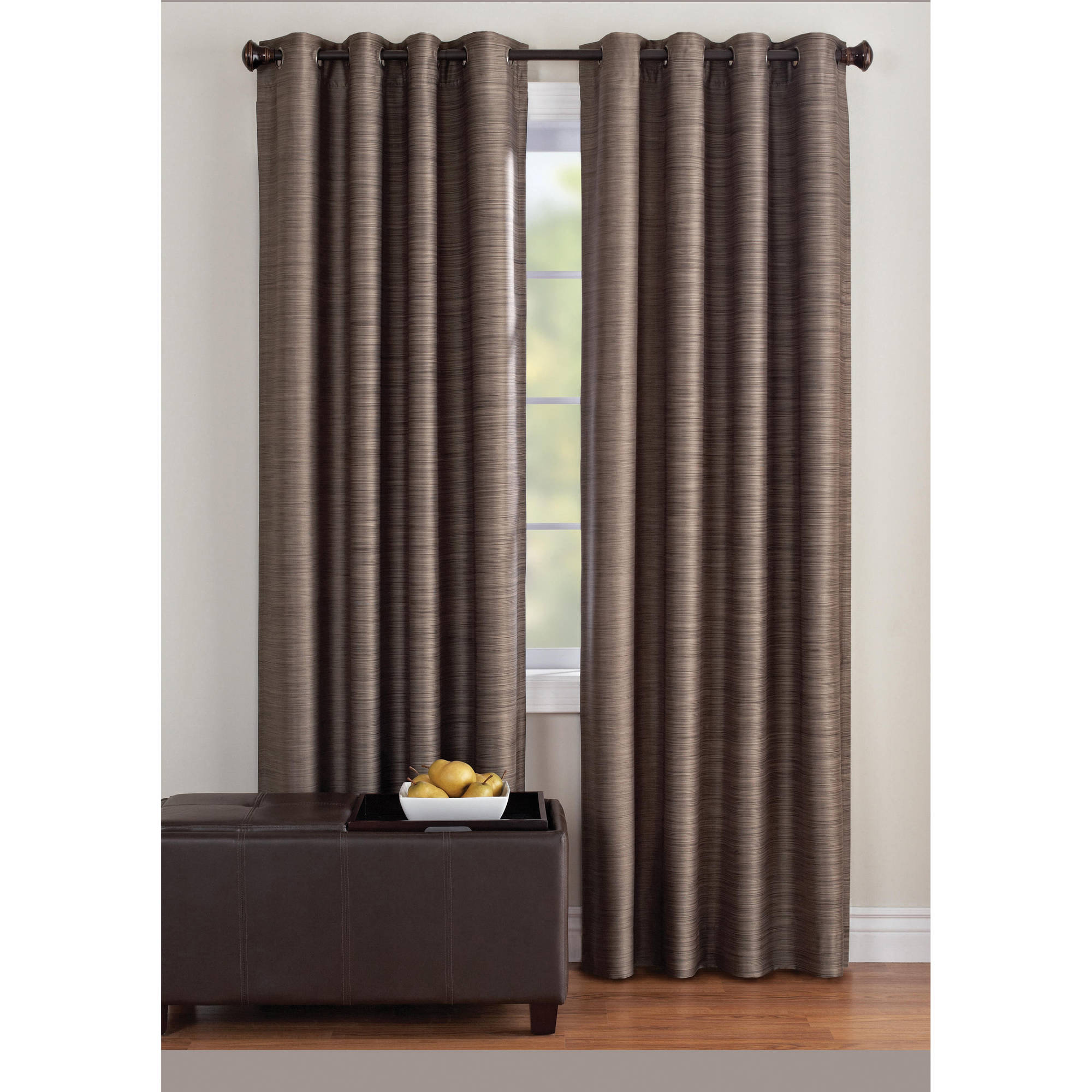 Walmart Curtains For Living Room Endearing Better Homes And Gardens Strie Stripe Window Panel  Walmart Design Inspiration