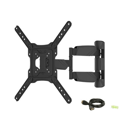Rosewill RHTB-17002 17  - 55  LCD LED TV Wall Mount with 6 ft 4K HDMI cable Use the Rosewill RHTB-17002 TV Wall Mount to display your LED or LCD TV in a professional and space-saving way while elevating your viewing experience. Once mounted to it, your TV can extend, tilt and swivel for an optimal viewing experience. It supports TV from 17  to 55  in size, weighing up to 77lbs., and features a 400 x 400 maximum VESA mounting pattern to fit a wide selection of displays. The TV wall mount comes with mounting accessories for easy installation. And the included bubble level enables accurate horizontal installation, free of inclining. One 6ft. HDMI cable is also included.
