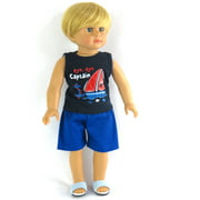 "Aye, Aye Captain! Boy Doll Outfit - Fits 18"" American Girl Dolls, Madame Alexander, Our Generation, etc. - 18 Inch Doll Clothes - Doll Not Included"