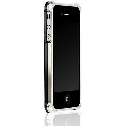 Hornettek BLAZR Aluminum Case for iPhone 4/4S with Photo Frame Package, Silver