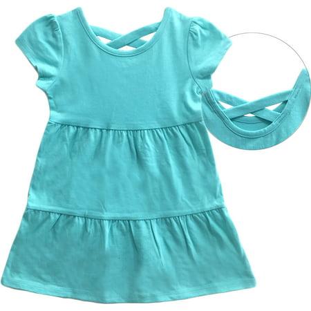 44a1be275971 Healthtex - Toddler Girl Criss-Cross Back Tiered Knit Dress ...