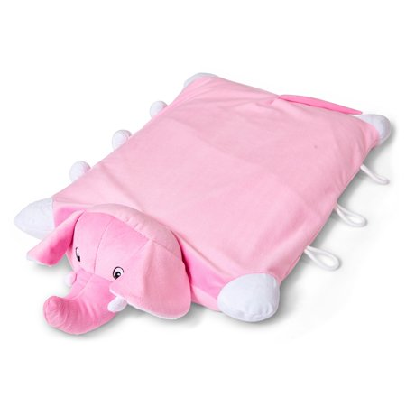 Wolf Corporation Wolf Natural Latex Animal Kids Pillow pink elephant, Kids Hypoallergenic, pink elephant