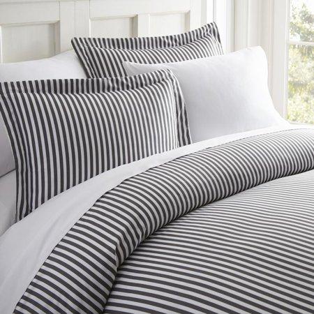 Noble Linens Premium Ultra Soft 3 Piece Ribbon Printed Duvet Cover Set ()