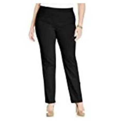 Mario Serrani Italy Women's Comfort Stretch Slim Fit Pants (6x30, Solid Black) ()