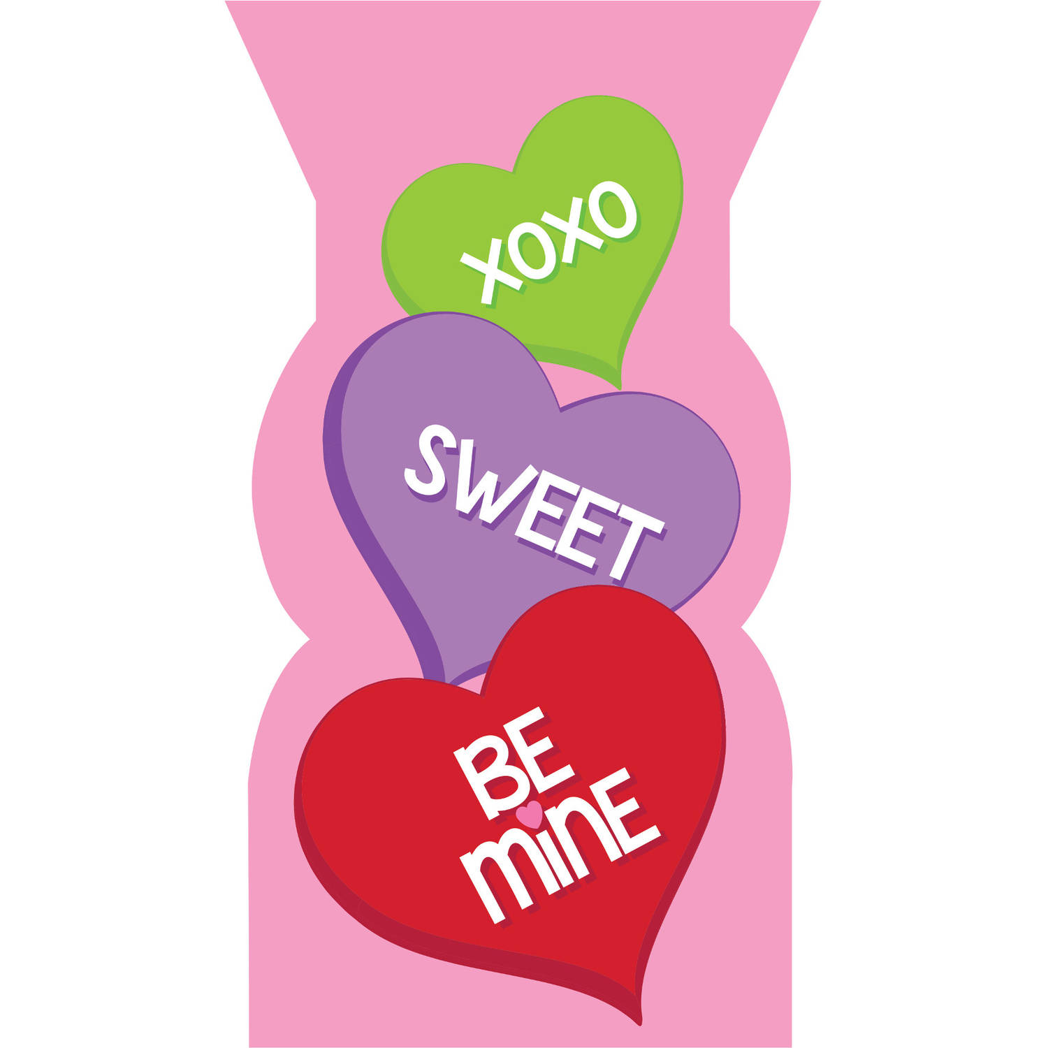 Candy Hearts Favor Bags, 20pk