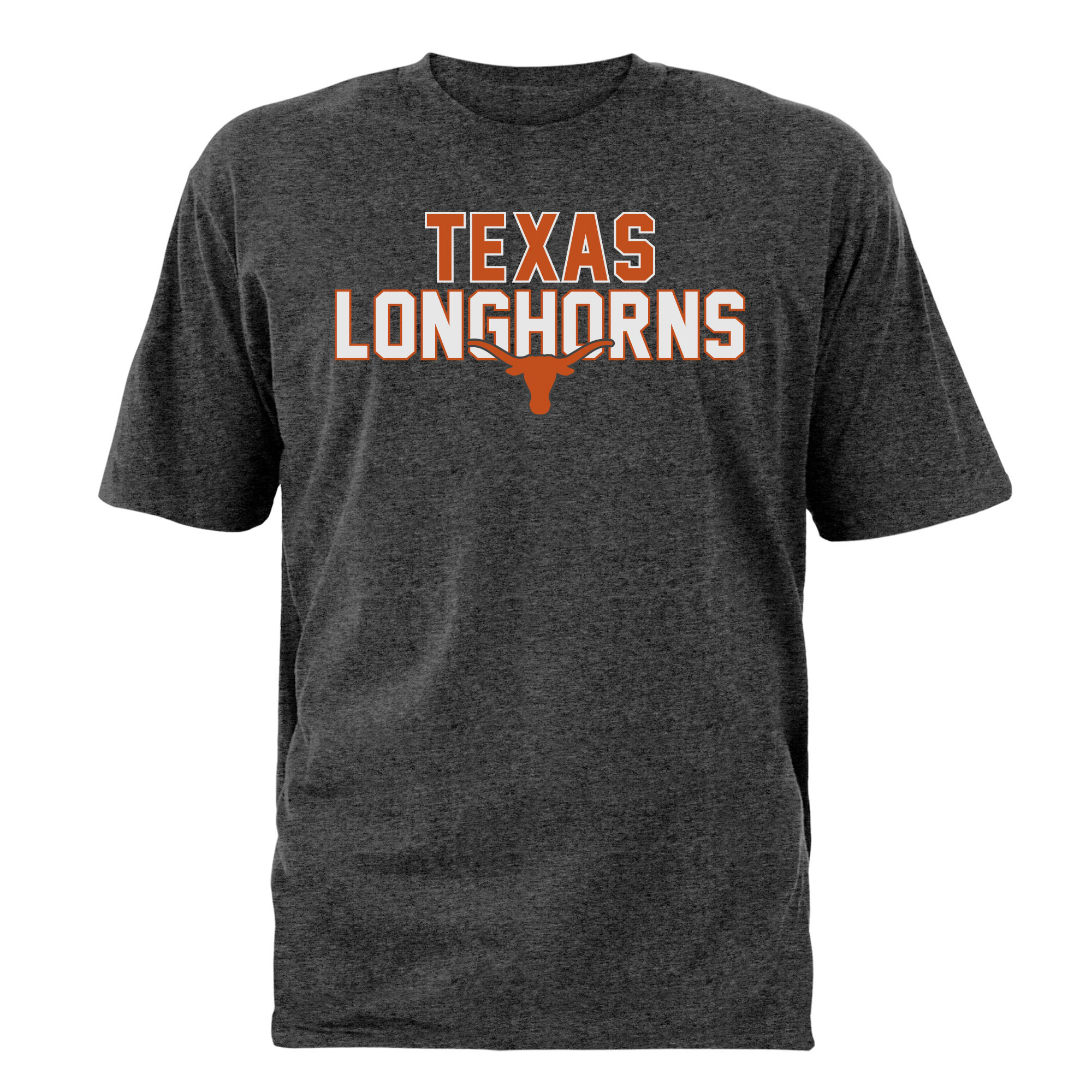 Men's Heathered Charcoal Texas Longhorns Razor T-Shirt
