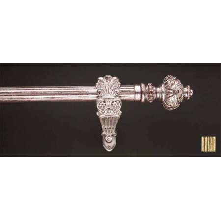 Palas 1187 Curtain Rod Set - 1.25 in. - Patina Brass - 63 (11 Brass Extension Rod)
