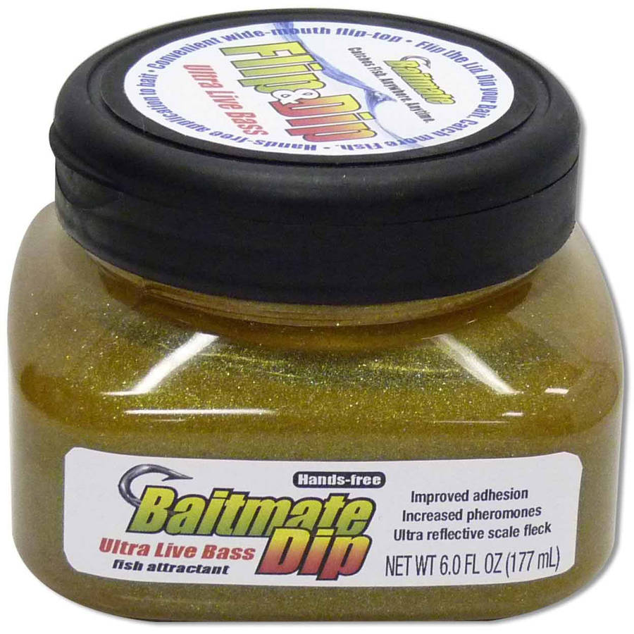 Baitmate Live Bass Dip Jar #552, Fish Attractant for Lures and Bait