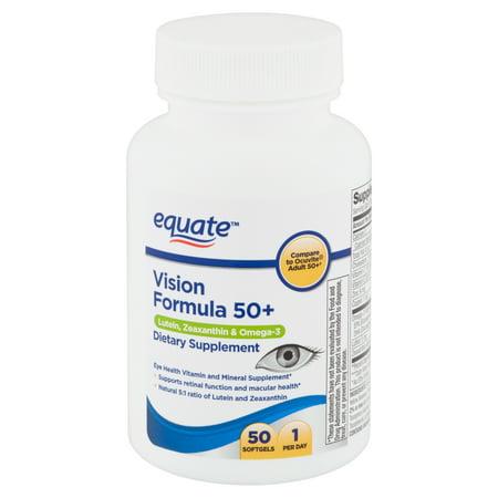 Equate Vision Formula 50+ Softgels, 50