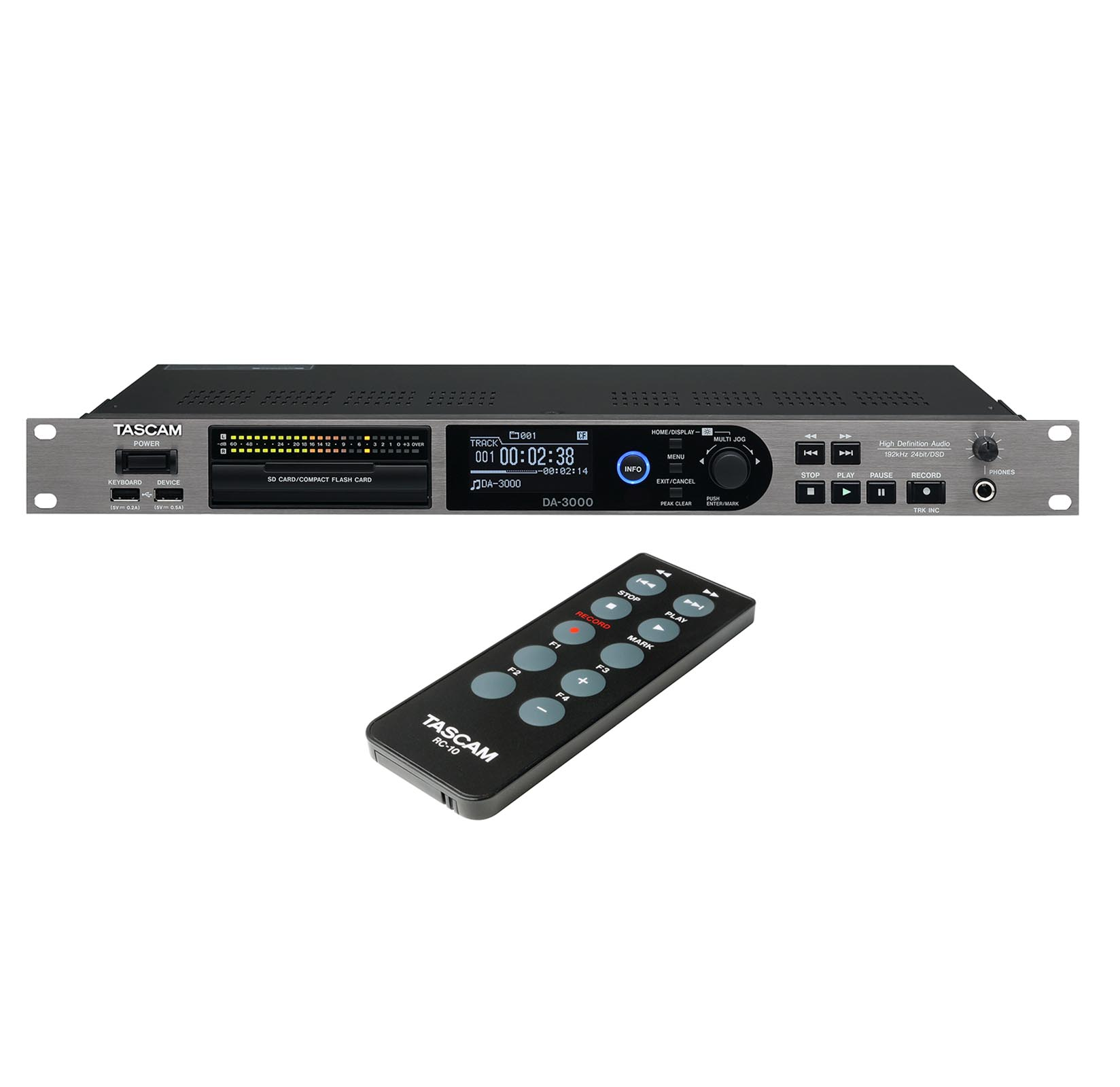 TASCAM DA-3000 Professional 2 Ch Stereo Master Audio Recorder and ADDA Converter (Refurbished)