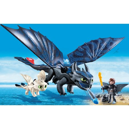PLAYMOBIL How to Train Your Dragon III Hiccup and Toothless with Baby Dragon - Walmart.com