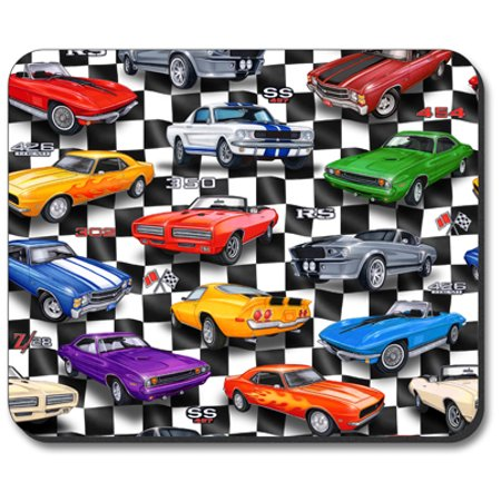 Art Plates Mouse Pad - Muscle Cars Munch Art Mouse Pad