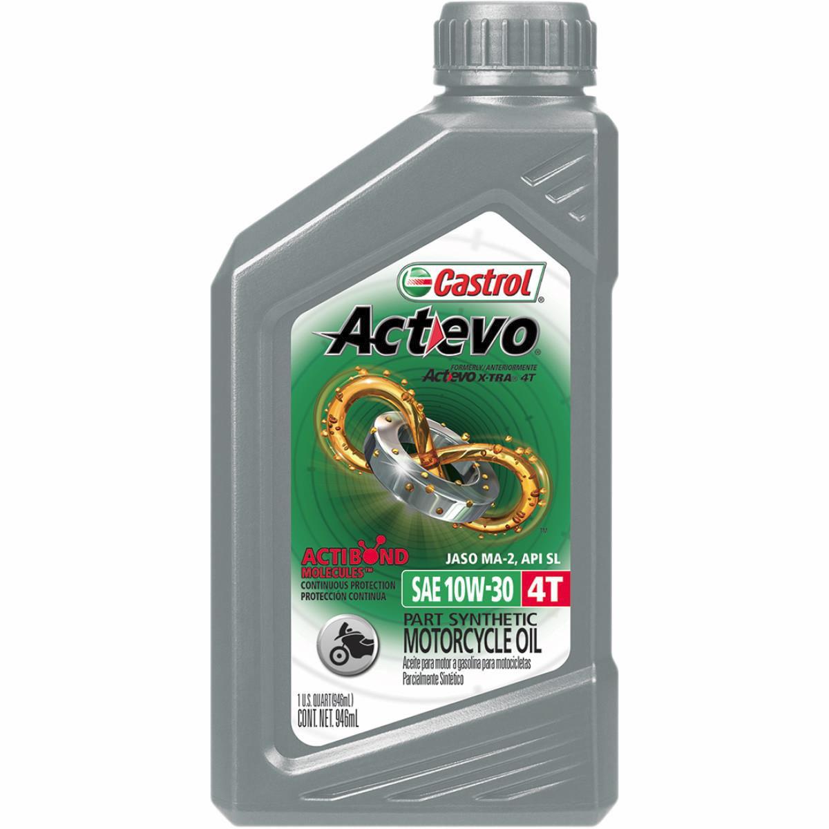 Castrol 06119 / 15B75F Actevo X-Tra 4T Synthetic Blend - 10W30 - 1qt.