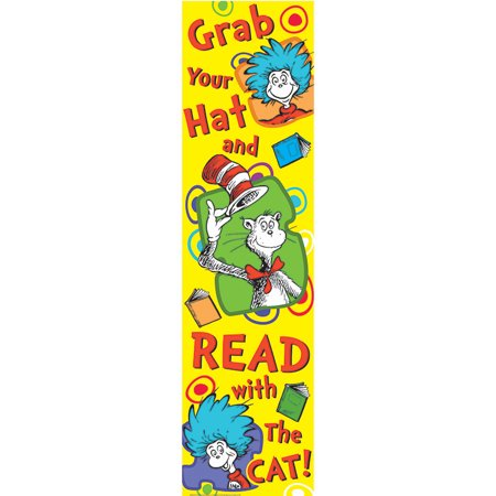 DR SEUSS GRAB YOUR HAT VERTICAL BANNER](Spurs Decorations)