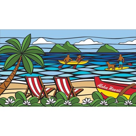 Hawaii Style Deluxe Beach Towel Sea Glass (Best Sea Glass Beaches In Hawaii)