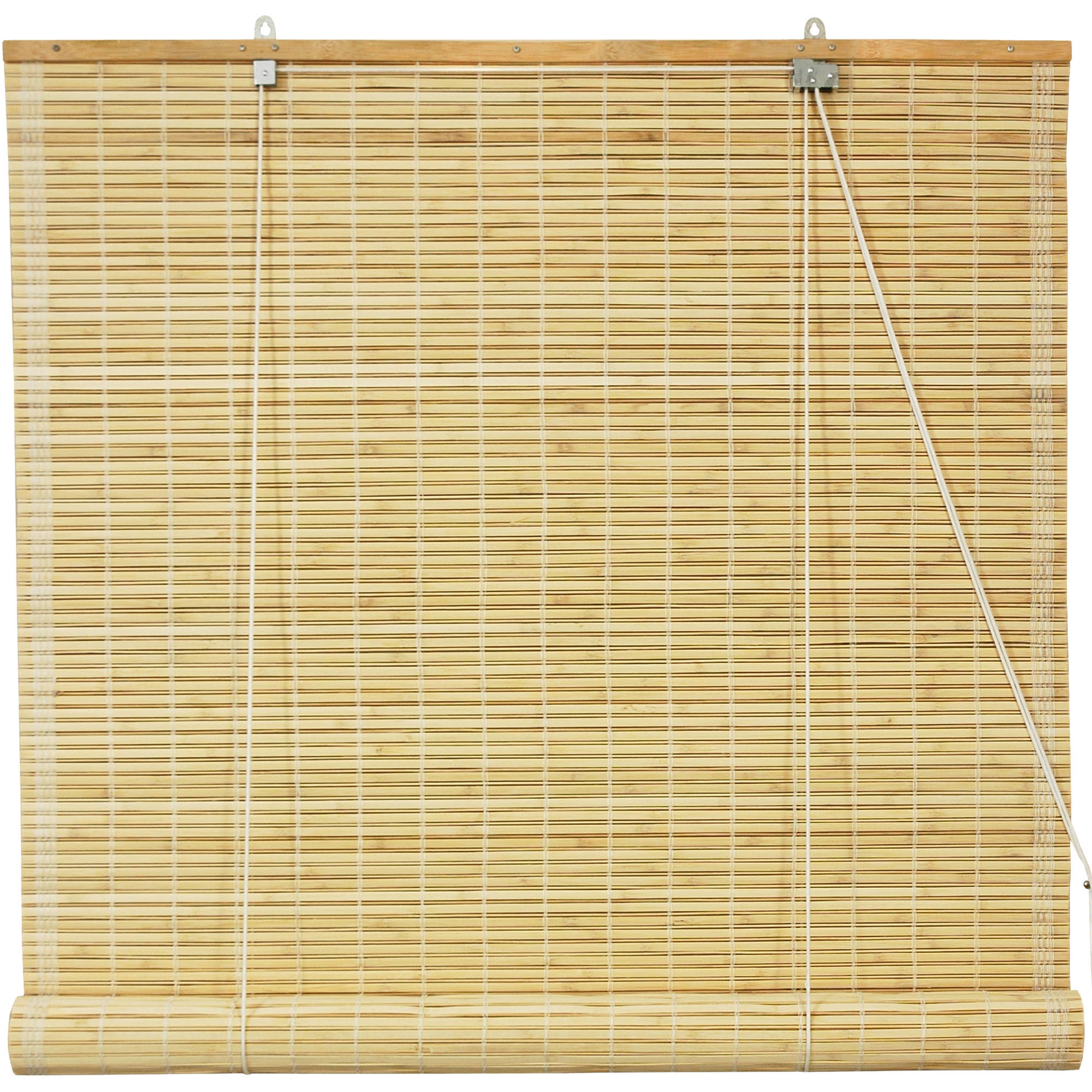 woven roll light roman shades natural pl shop com at treatments lowes up home blinds bamboo levolor filtering shade window decor
