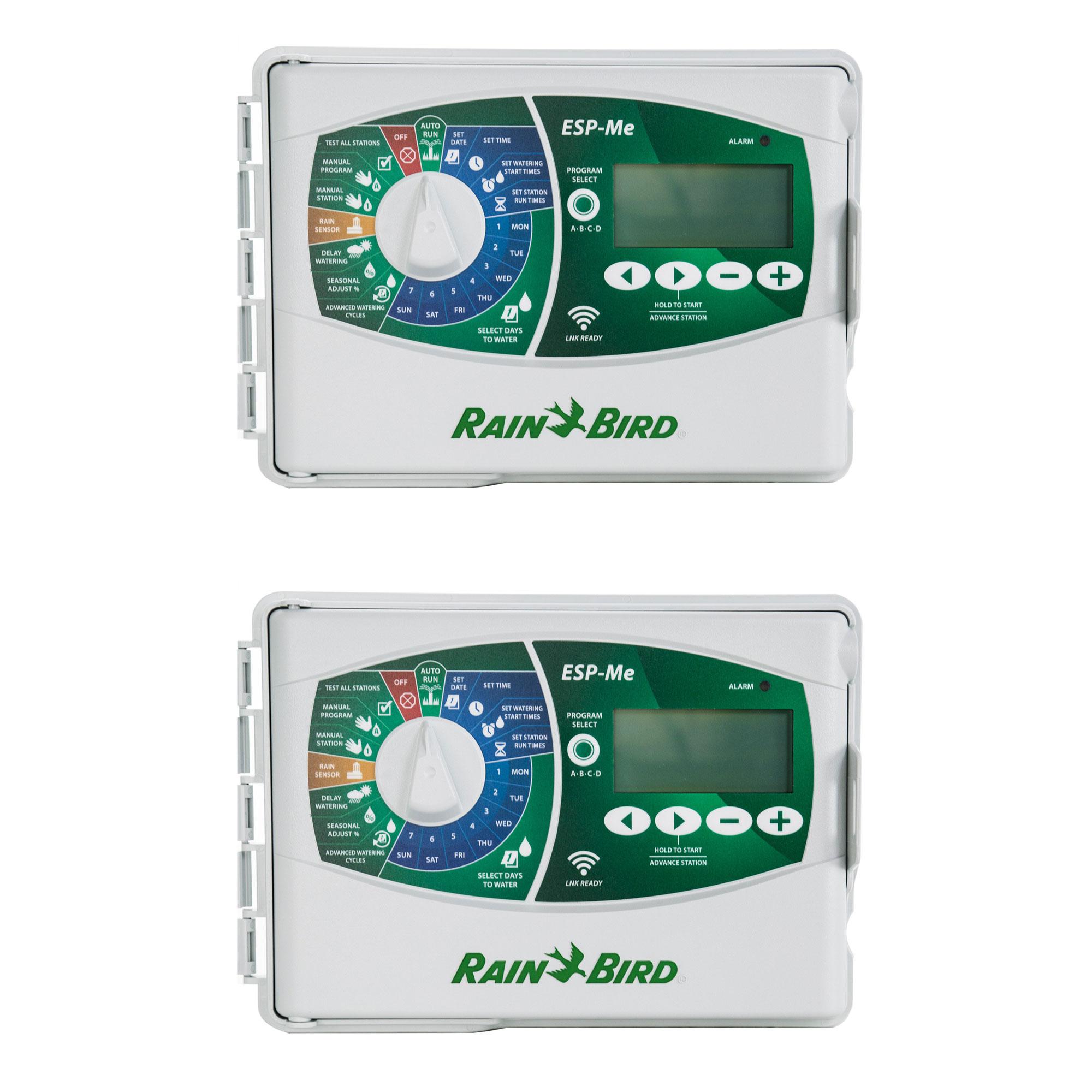 Rain Bird Smart WiFi 10 Station Irrigation Sprinkler Controller Timer (2 Pack)