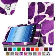 "Fintie Nextbook 7"" Tablet (NX700QC16G) Case - Premium PU Leather Folio Cover With Stylus Holder, Giraffe Purple"