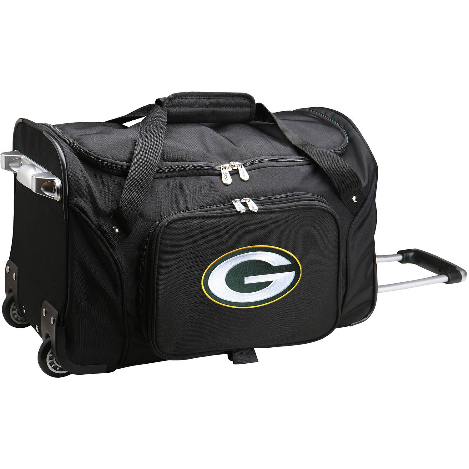 "Denco NFL 22"" Rolling Duffel, Green Bay Packers"