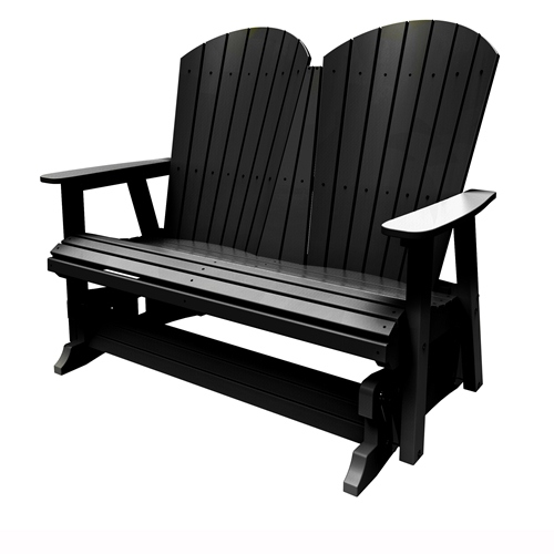 Double Glider by Malibu Outdoor - Hyannis, Black