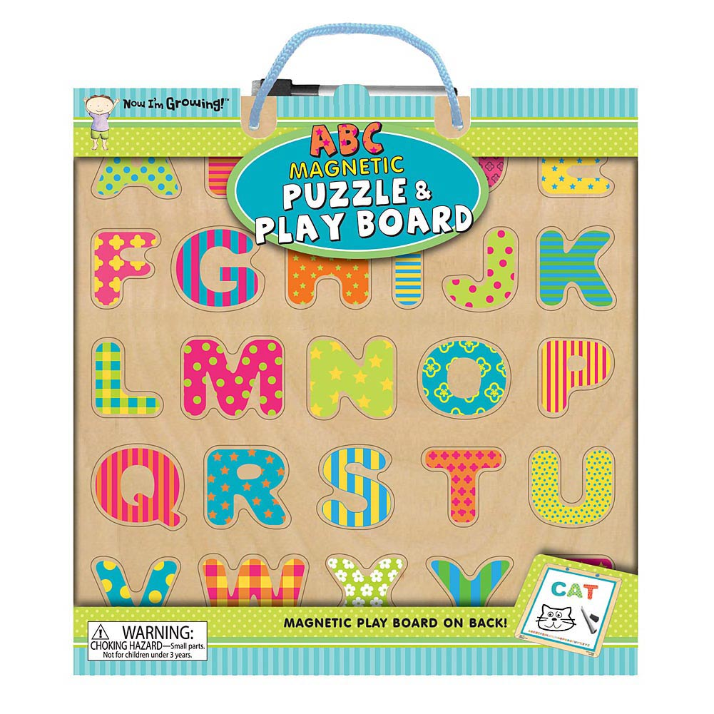 ABC Magnetic 25 Piece Puzzle and Play Board,  Kids Puzzles by Innovative Kids