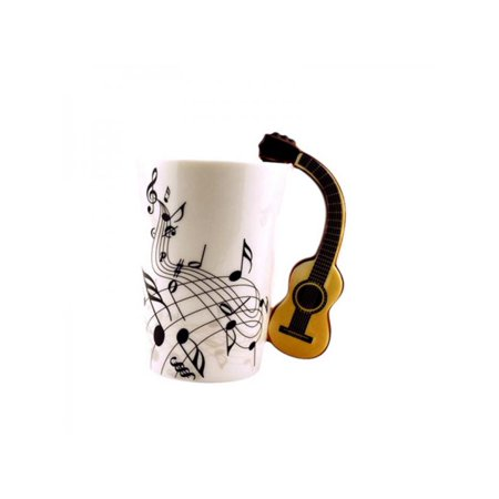 Creative Novelty Guitar Ceramic Cup Personality Music Note Mug Cup Coffee Tea Milk Cup Unique -