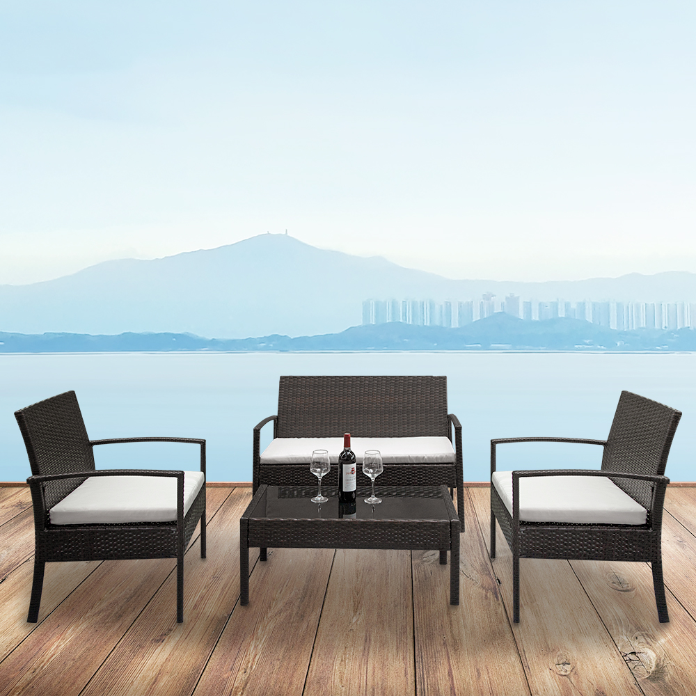 Wicker Patio Sets on Clearance, 4 Piece Outdoor ...