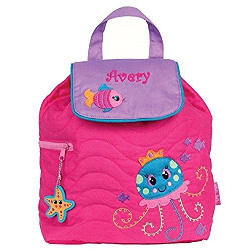 Personalized Pink Jellyfish Embroidered Backpack